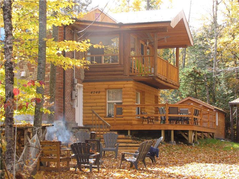 chalet lac sept iles chalet louer st raymond pl 13357 chaletsauquebec. Black Bedroom Furniture Sets. Home Design Ideas