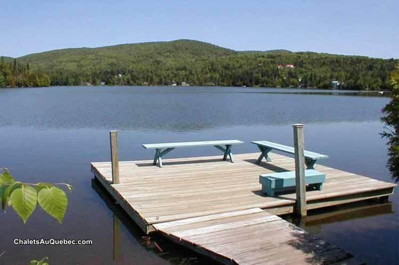 chalet priv 233 bord du lac avec spa chalet 224 louer ste agathe des monts pl 15394