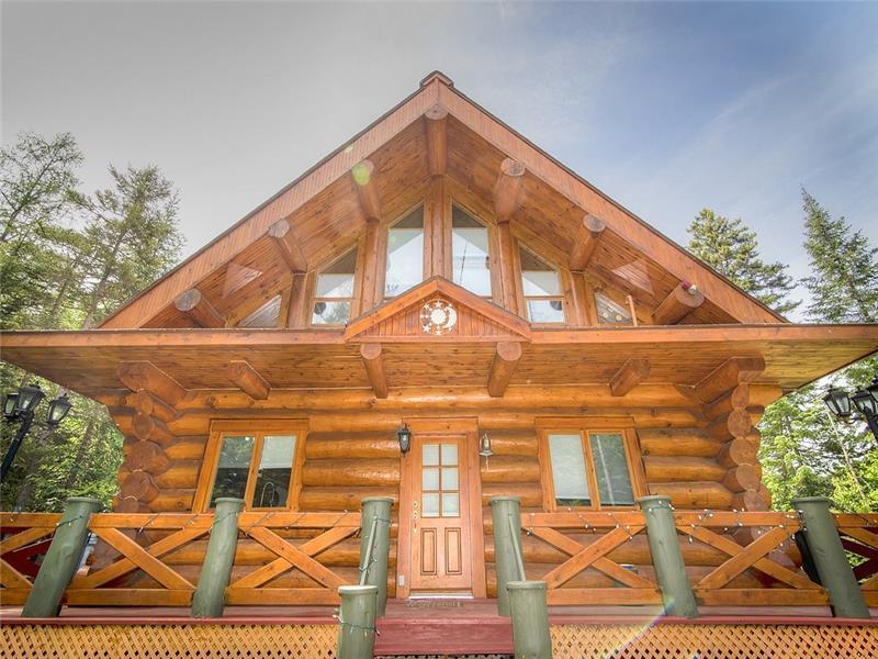 maison en bois rond a vendre