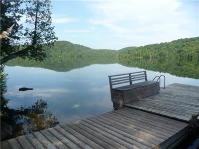 Laurentian cottage on large pristine motorboat-free lake