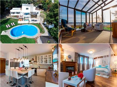 Luxury villa* 8 bedrooms * 8 bathrooms* 40 guest* Waterfront* Jaccuzi* pool* 15 min. downtown Quebec
