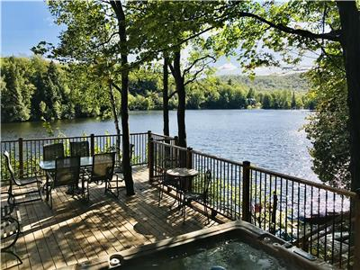 Scandinavian of Laurentians, HOT TUB/Jacuzzi, cottage cabin for rent, vacation, lakefront,tremblant