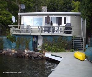 Chalet des Canards  du Lac-des-Piles, presque comme en  bateau