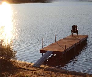 Harmony, Chalet à louer au Lac à la Truite, Minerve, bord de l'eau navigable, moteur